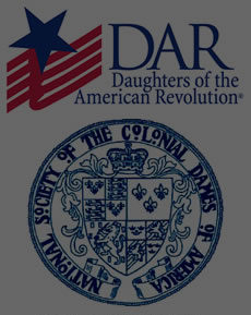 We are proud members of the Daughters of the American Revolution, National Society of the Colonial Dames of America, the Maryland Historical Trust, and the Historical National Trust