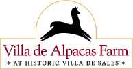 Alpaca Fiber Products & Gifts | Villa de Alpacas Farm Logo