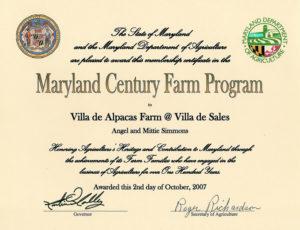 Maryland Century Farm Program